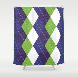 Seattle Argyle Shower Curtain