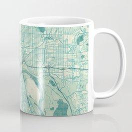 St Paul Map Blue Vintage Coffee Mug
