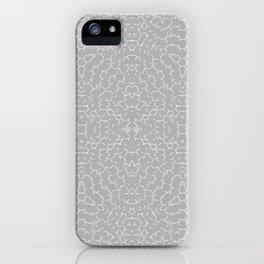 Broken Honeycomb Lt Gray iPhone Case