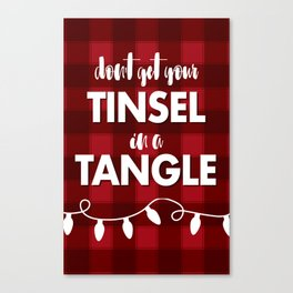 TANGLED TINSEL Canvas Print