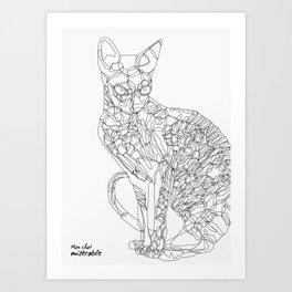 Mon chat misérable Art Print