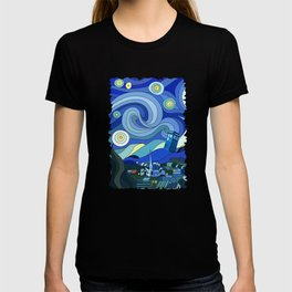 Tardis Art Starry Night T-shirt