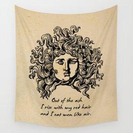 Sylvia Plath - Lady Lazarus Wall Tapestry
