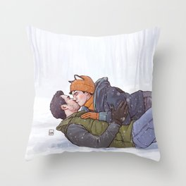 Winter Smooches Throw Pillow