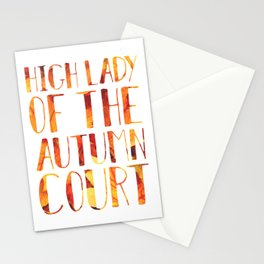 High Lady of the Autumn Court Stationery Cards