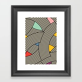 Modern Scandinavian Multi Colour Color Curve Graphic Framed Art Print