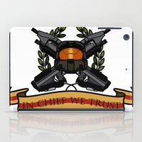 master chief iPad Cases featuring Master Chief by Toby Court