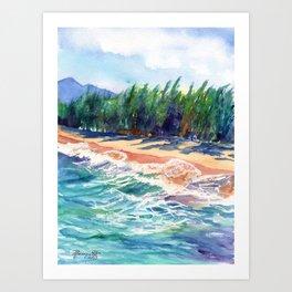 Kauai North Shore Beach 2 Art Print