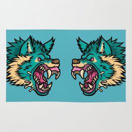 Cold Harsh Wolf Rug