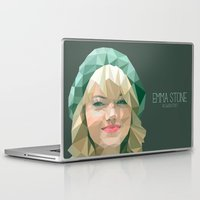 emma stone Laptop & iPad Skins featuring Emma Stone by You Xiang