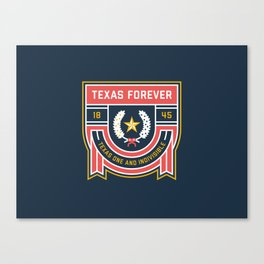 Texas Forever Seal Canvas Print