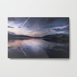 Lights Out Over Derwent Metal Print