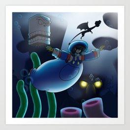 Shawny Boy Underwater Cove Art Print