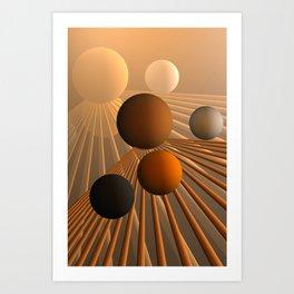 converging lines again -3- Art Print