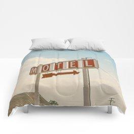 ABANDONED DESERT MOTEL Comforters