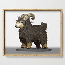 Brown CG Sheep Serving Tray