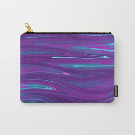 Pink, Purple, and Blue Waves 2 (rotated) Carry-All Pouch