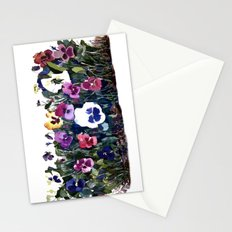 Pansies Watercolor Stationery Cards