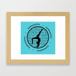 Gymnastic Circle blue Framed Art Print