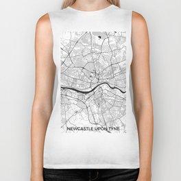 Newcastle upon Tyne Map Gray Biker Tank