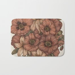 Poppies and Lilies Bath Mat