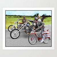 pee wee Art Prints featuring Pee Wee Rider by Rabittooth