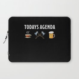 Funny Axe throwing Gift for Axe Thrower Laptop Sleeve