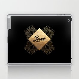 Loved in Black and Gold Laptop & iPad Skin