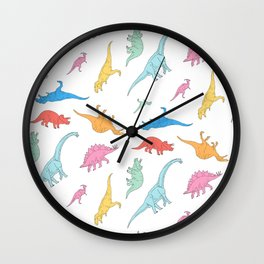 Dino Doodles Wall Clock