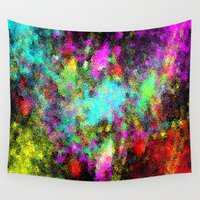 splatter Wall Tapestries featuring Paint splatter  by Sammycrafts