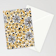 Golden animal print floral Stationery Cards