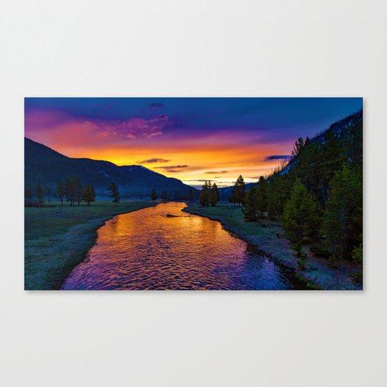 Sundown At Yellowstone Canvas Print
