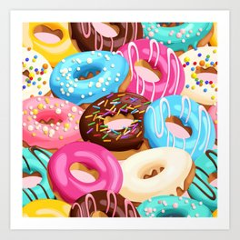 Donuts with Sprinkles Art Print