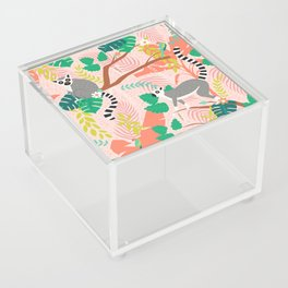 Lemurs in Pink Jungle Acrylic Box