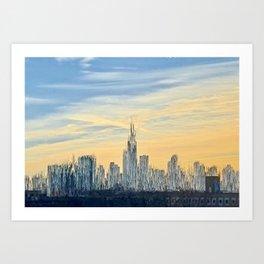 Skyline Melt Art Print