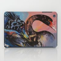 black swan iPad Cases featuring Black Swan by Michael Creese