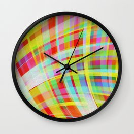 Moving Color Waves Fabric Wall Clock