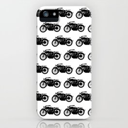 Antique Motorcycles iPhone Case
