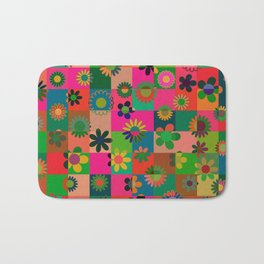 Flowers & Cubes - one Bath Mat