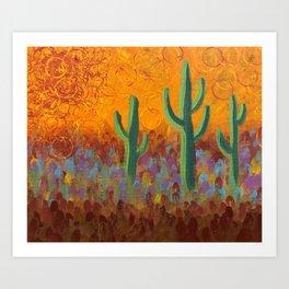 Saguaros Dreaming Art Print