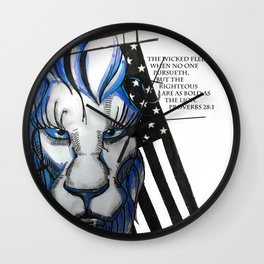 Bold as the Lion Wall Clock