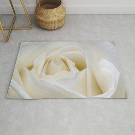 white rose Rug