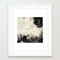 umbrella Framed Art Prints featuring umbrella by woman