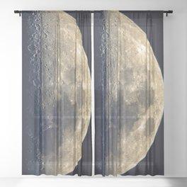 Twilight on the moon Sheer Curtain