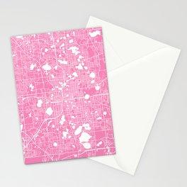Orlando map pink Stationery Cards