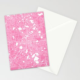 Orlando map pink Stationery Cards