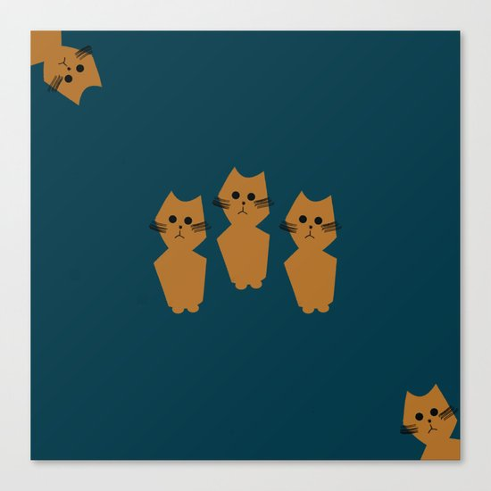 Curious Cats Canvas Print