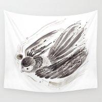 flight Wall Tapestries featuring Flight by Lilian Darmono