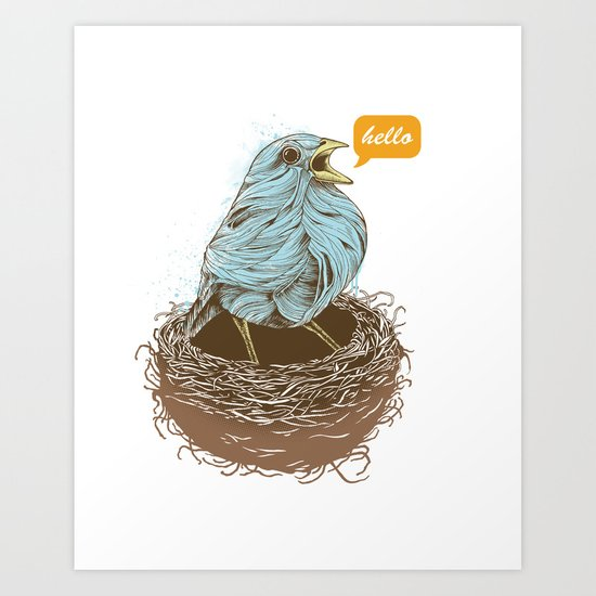 Twisty Bird Art Print