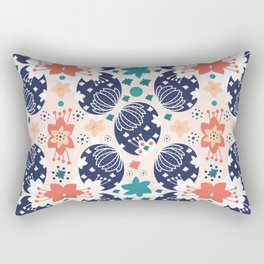 The Pysanky Easter eggs colorful pattern Rectangular Pillow